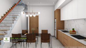 mẫu thiết kếnội thất nhà phố 2 tầng hiện đại 04