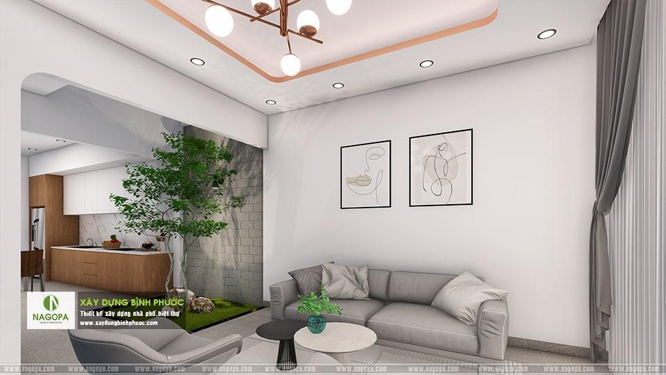 nội thất trong hồ sơ thiết kế nhà phố