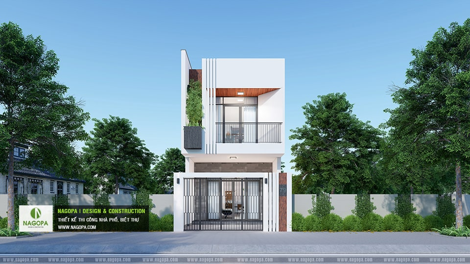 thiết kế nhà phố gia đình cô thu