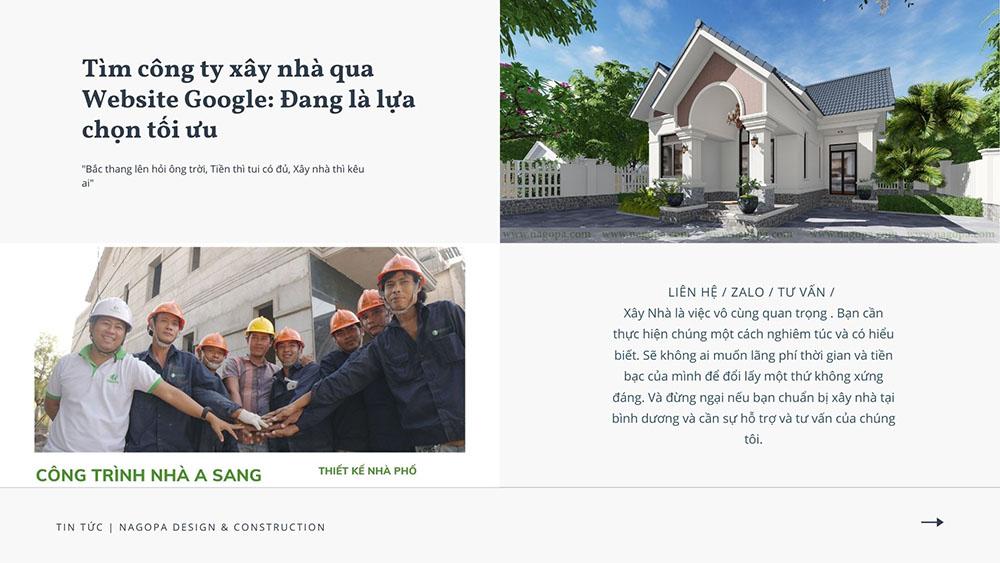Tìm công ty xây nhà qua website