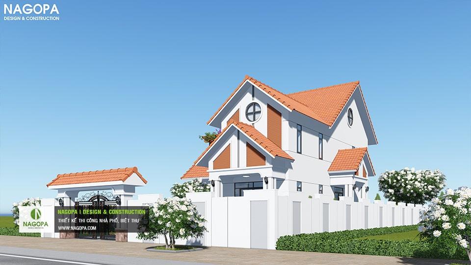 Biệt Thự 2 tầng mái ngói 130m2 có 4 phòng ngủ tại Bình Phước 01