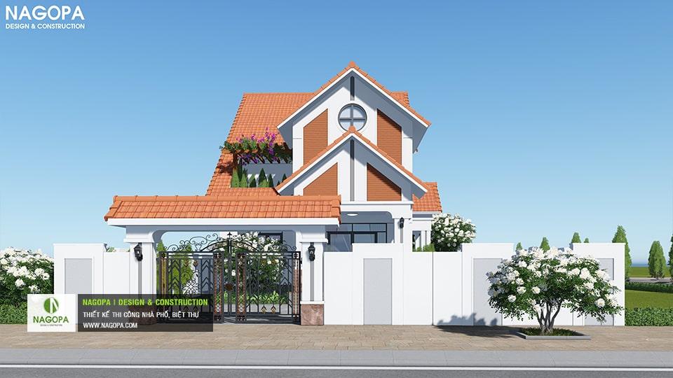 Biệt Thự 2 tầng mái ngói 130m2 có 4 phòng ngủ tại Bình Phước