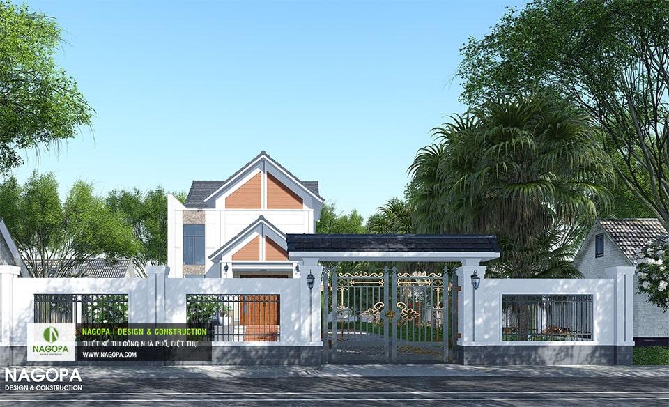 Biệt Thự Mái Thái 120m2 gia đình a Hòa tại Chơn Thành 01
