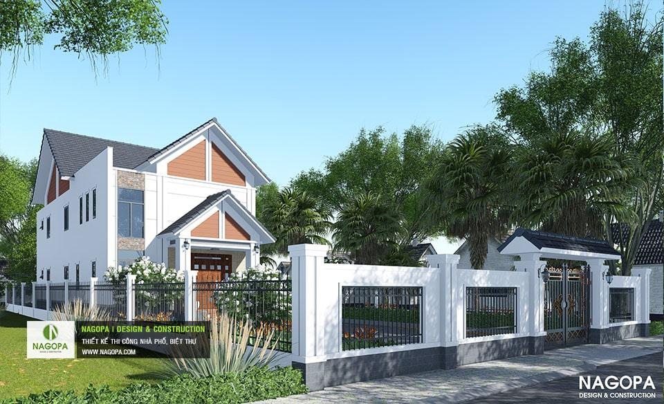 Biệt Thự Mái Thái 120m2 gia đình a Hòa tại Chơn Thành 03