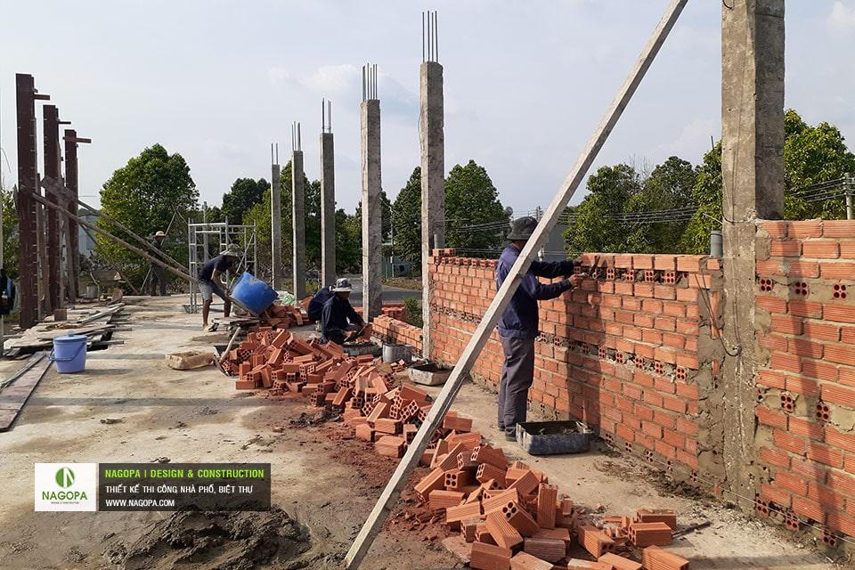 cập nhật tiến độ thi công nhà cô thu tại đồng xoài t5/2021 02