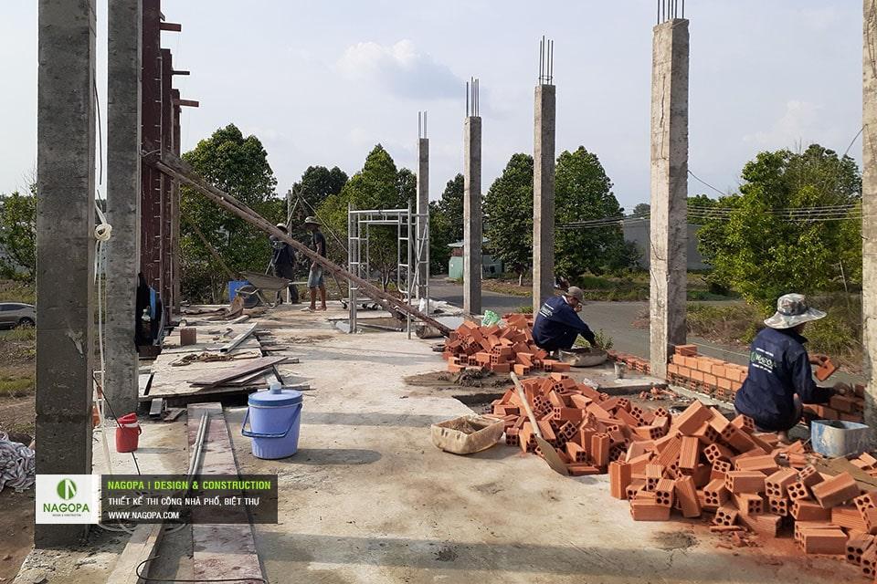 cập nhật tiến độ thi công nhà cô thu tại đồng xoài t5/2021 04