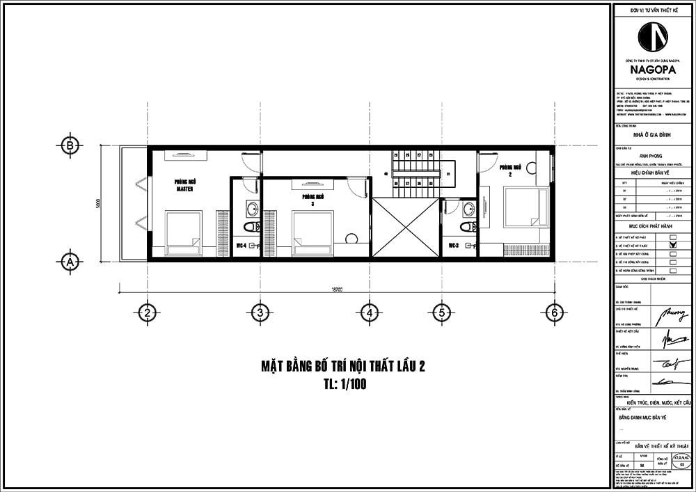 Mặt bằng nhà phố 5m thiết kế 3 tầng nhà ở kết hợp kinh doanh cafe 02