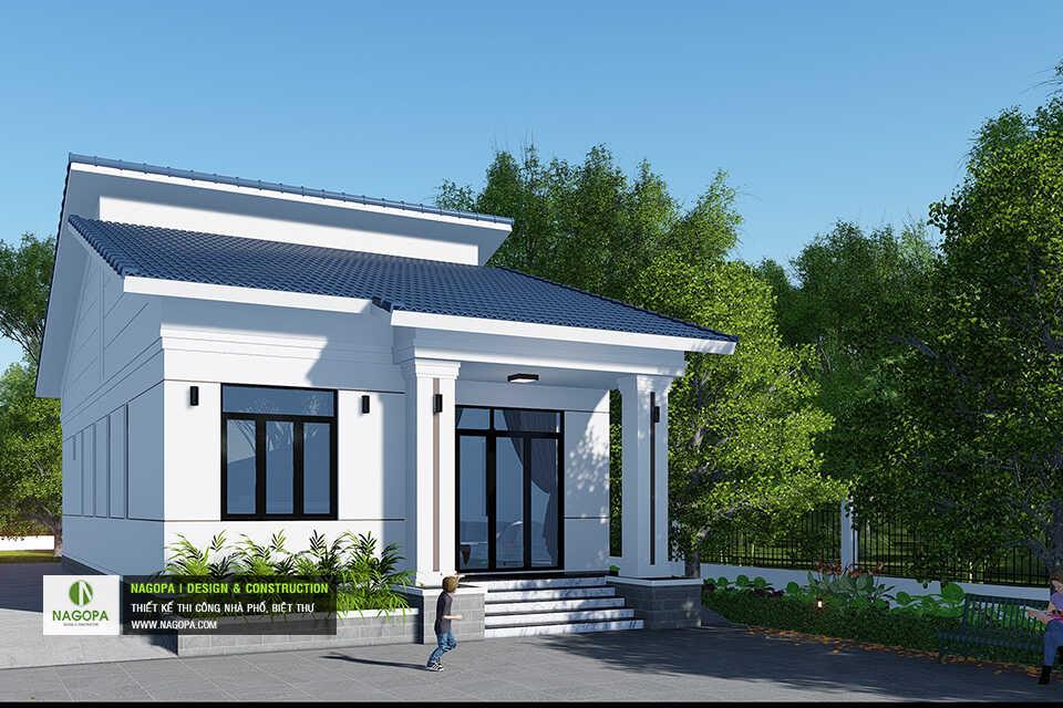 Mẫu Nhà Cấp 4 Mái Lệch Trên Đất Vườn tại Tiến Hưng, Đồng Xoài01