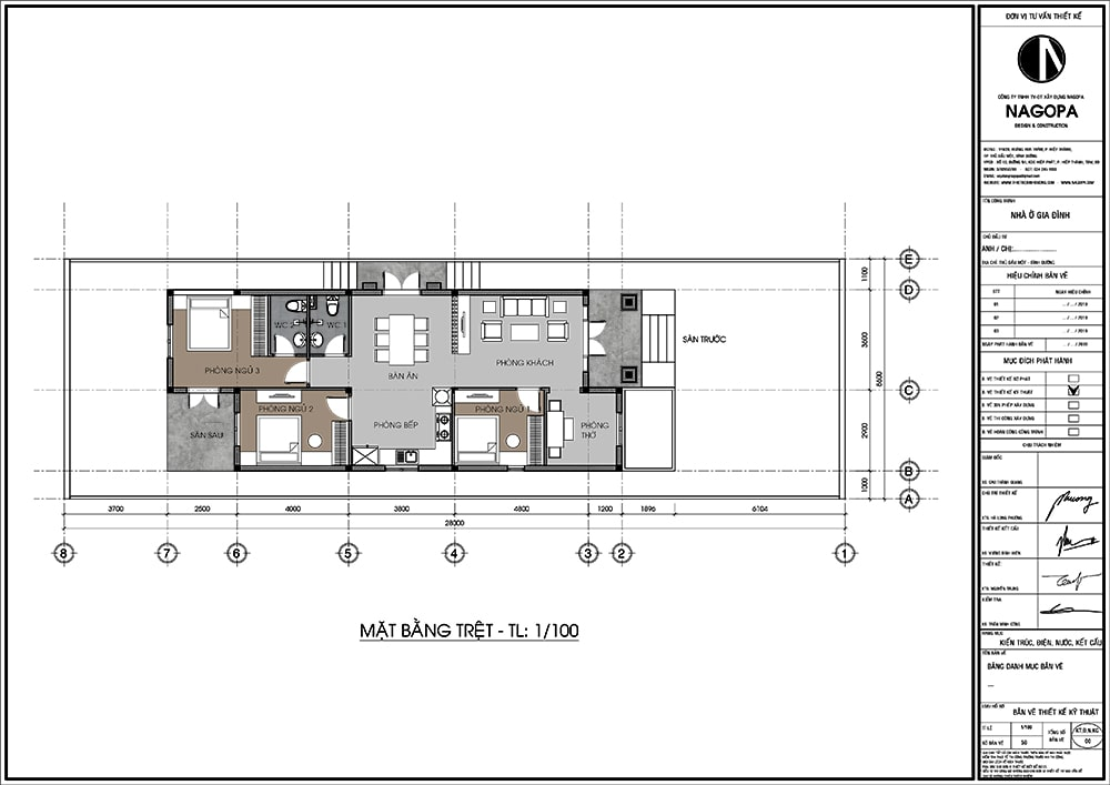 mặt bằng nhà cấp 4 có 3 phòng ngủ nổi bật 1