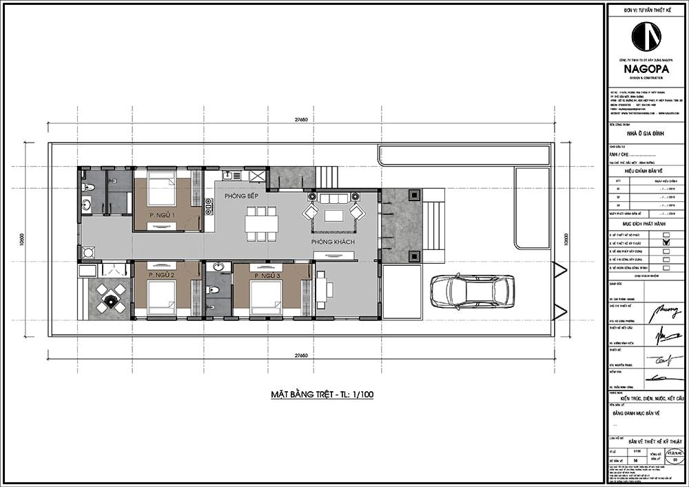 mặt bằng nhà cấp 4 có 3 phòng ngủ nổi bật 3