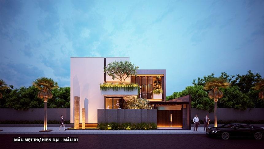Mẫu biệt thự hiện đại thiết kế sang trọng đẳng cấp 1