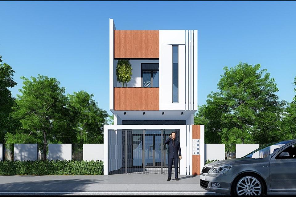 nhà phố mặt tiền 5m thiết kế 2 tầng 5