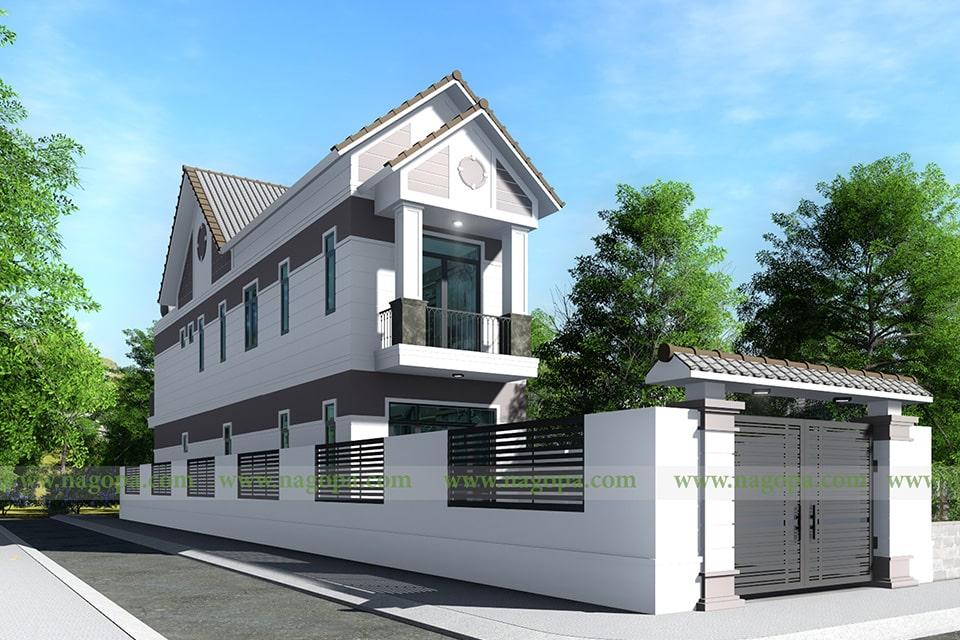 nhà phố mặt tiền 5m thiết kế 2 tầng 6