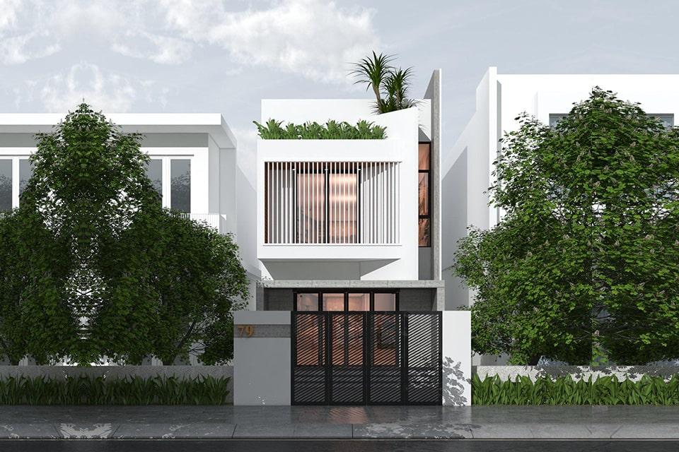 nhà phố mặt tiền 5m thiết kế 2 tầng 9