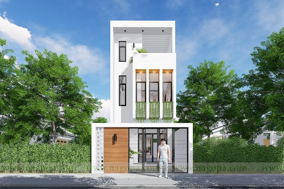 nhà phố mặt tiền 5m thiết kế 3 tầng 3