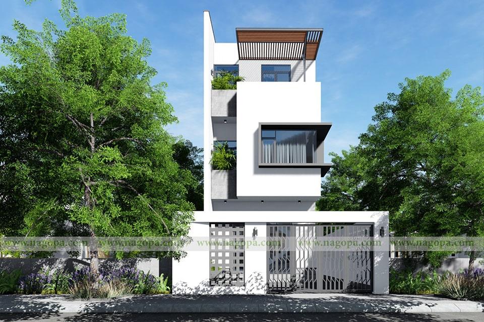 nhà phố mặt tiền 5m thiết kế 3 tầng 4