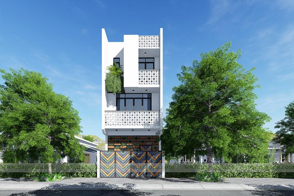 nhà phố mặt tiền 5m thiết kế 3 tầng 5