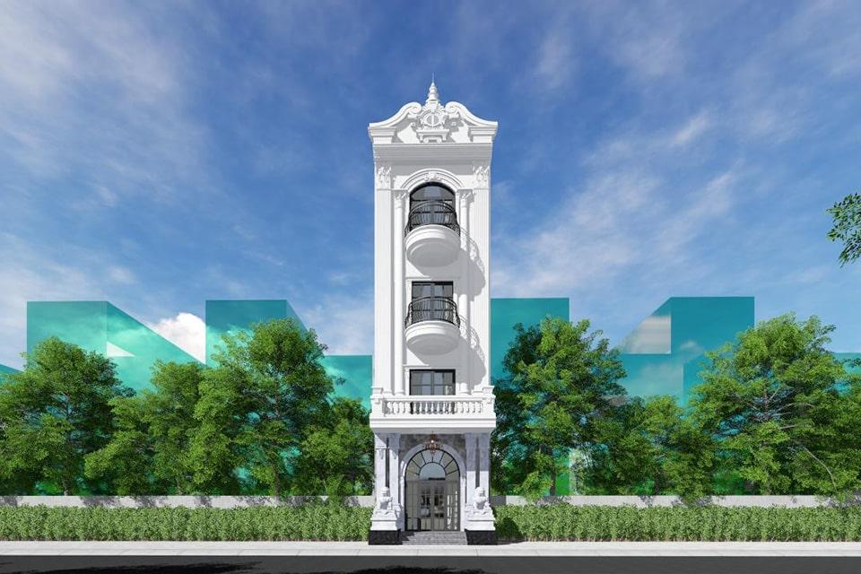 nhà phố mặt tiền 5m thiết kế 3 tầng 6