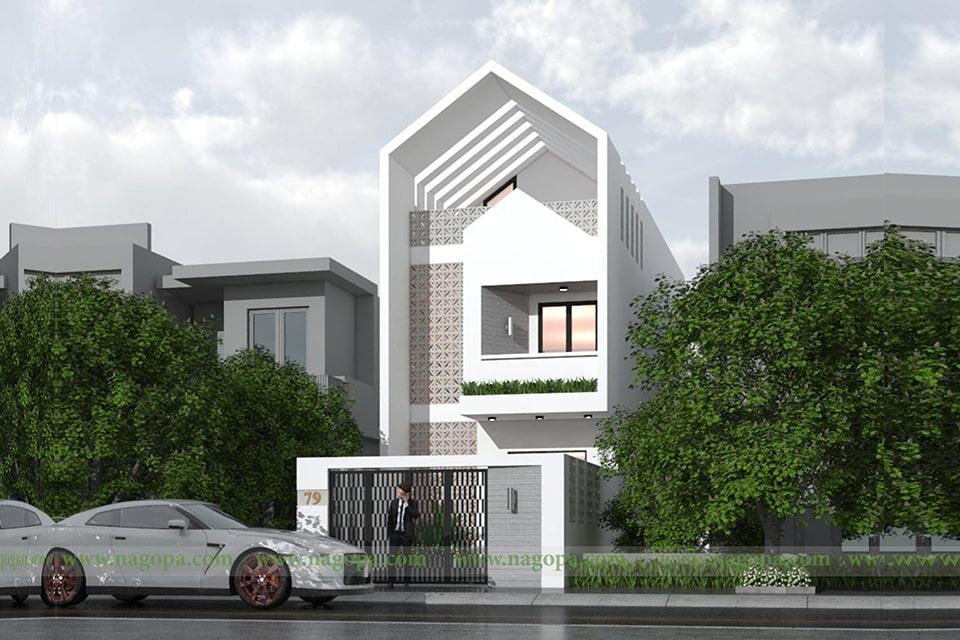 nhà phố mặt tiền 5m thiết kế 3 tầng 7