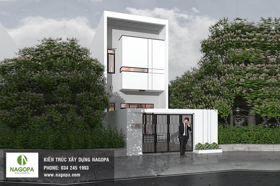 nhà phố mặt tiền 5m thiết kế 3 tầng 8