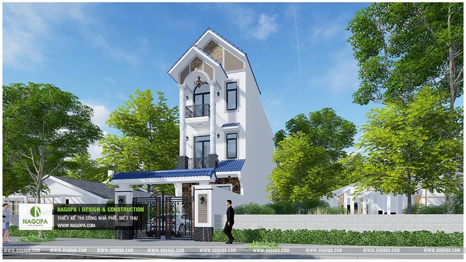 Nhà Phố 3 Tầng 6x20m kiến trúc mặt tiền mái thái 2