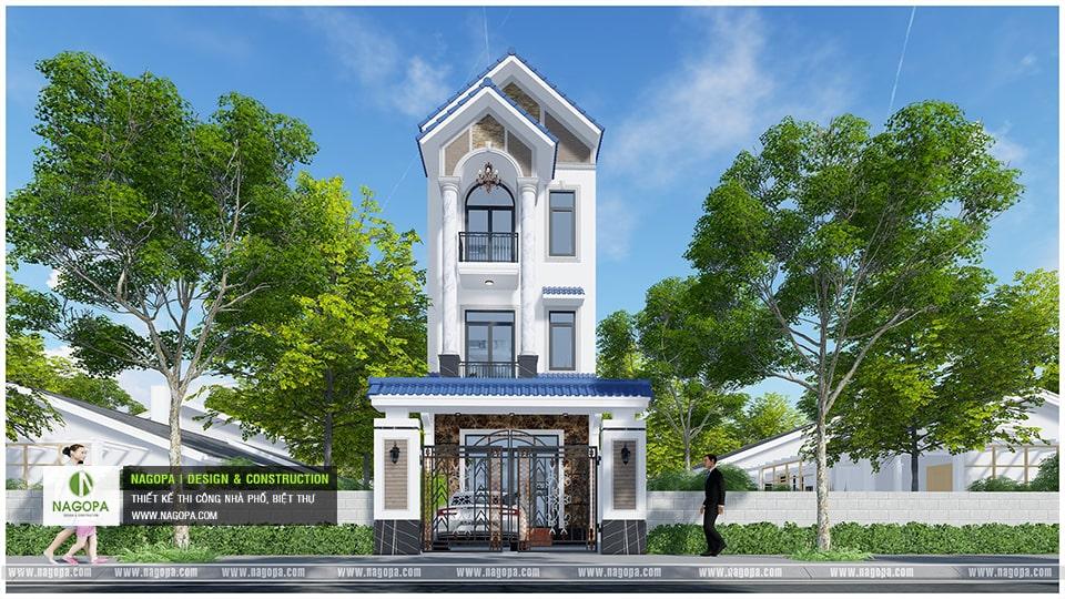 Nhà Phố 3 Tầng 6x20m kiến trúc mặt tiền mái thái