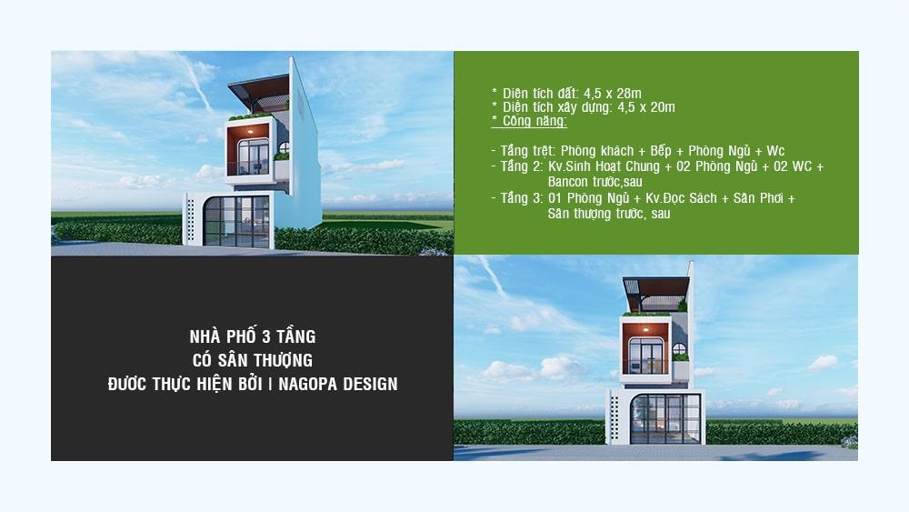 Nhà Phố 3 Tầng Diện Tích 4.5x20m Có 4 Phòng Ngủ 8