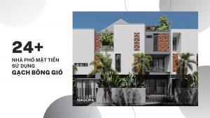 nhà phố mặt tiền sử dụng gạch thông gió