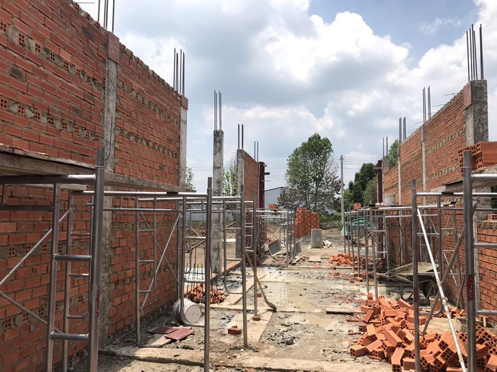 gạch tuynel ứng dụng xây tường nhà ở