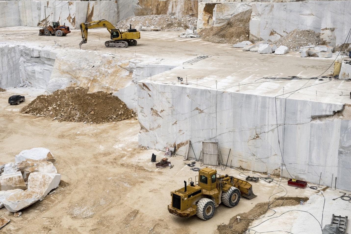 khai thác đá marble