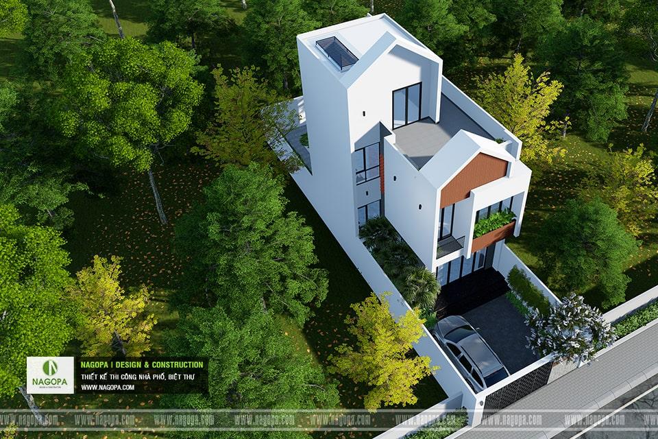 Nhà phố 3 tầng hiện đại | Nhà gia đình anh T | PHTDM 4