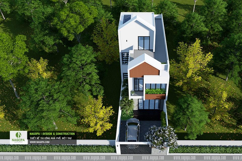 Nhà phố 3 tầng hiện đại | Nhà gia đình anh T | PHTDM 5