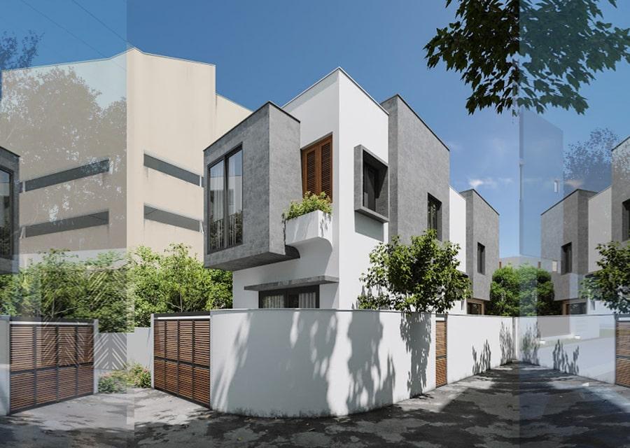 Nhà phố lô góc thiết kế 2 tầng 2