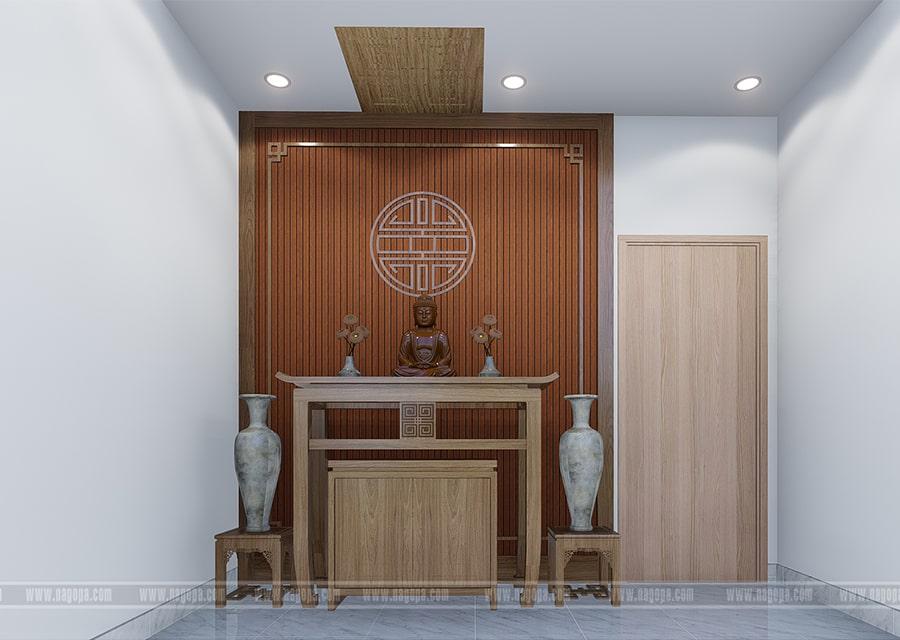 nội thất phòng thờ nhà phố lô góc 2