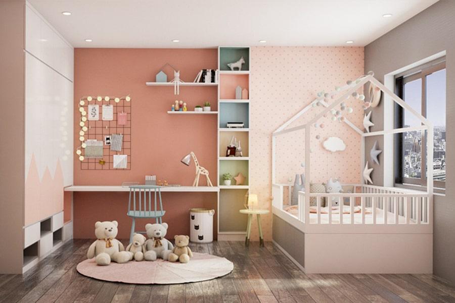 phòng ngủ dành cho bé gái 10 nagopa design