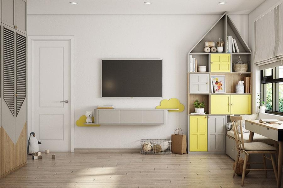 phòng ngủ dành cho bé gái 15 nagopa design