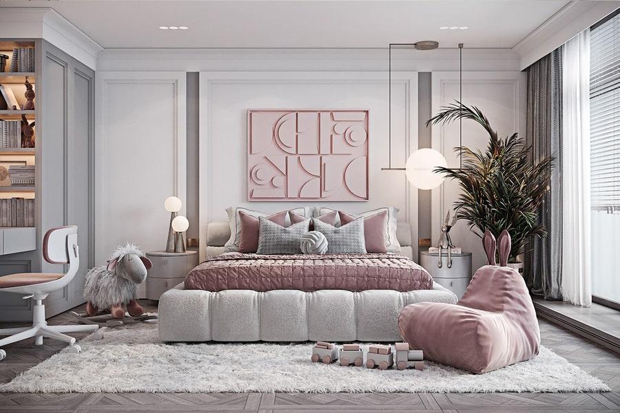 phòng ngủ dành cho bé gái 16 nagopa design