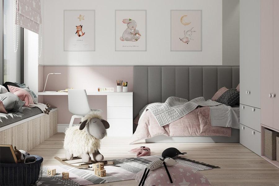 phòng ngủ dành cho bé gái 2 nagopa design