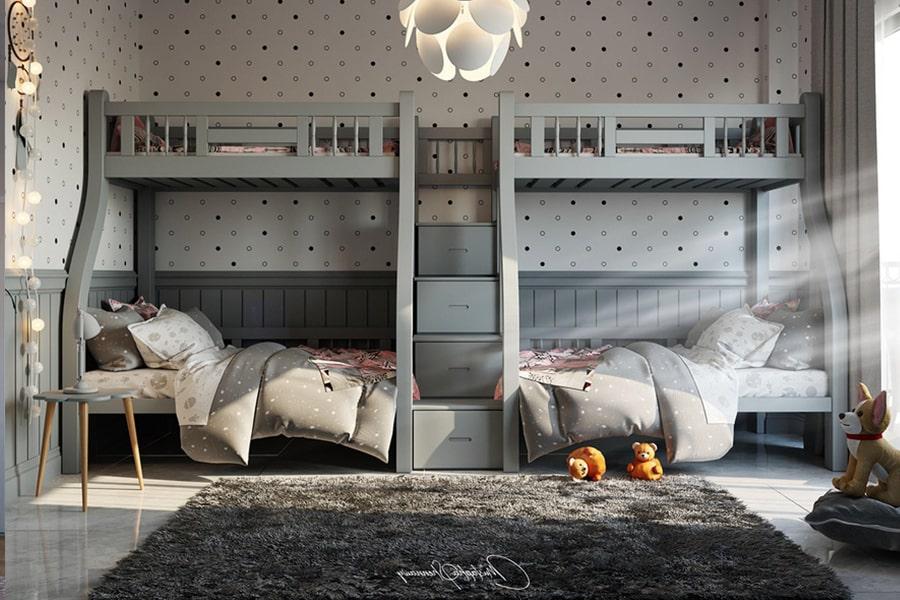 phòng ngủ dành cho bé gái 24 nagopa design