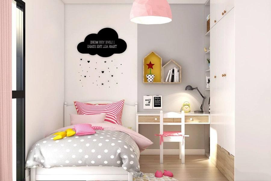 phòng ngủ dành cho bé gái 25 nagopa design