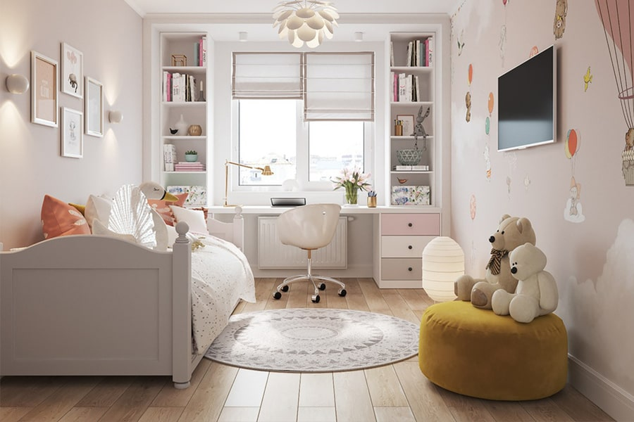 phòng ngủ dành cho bé gái 27 nagopa design