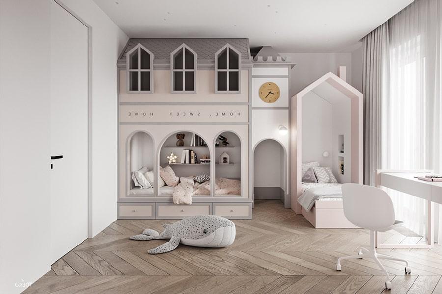phòng ngủ dành cho bé gái 34 nagopa design