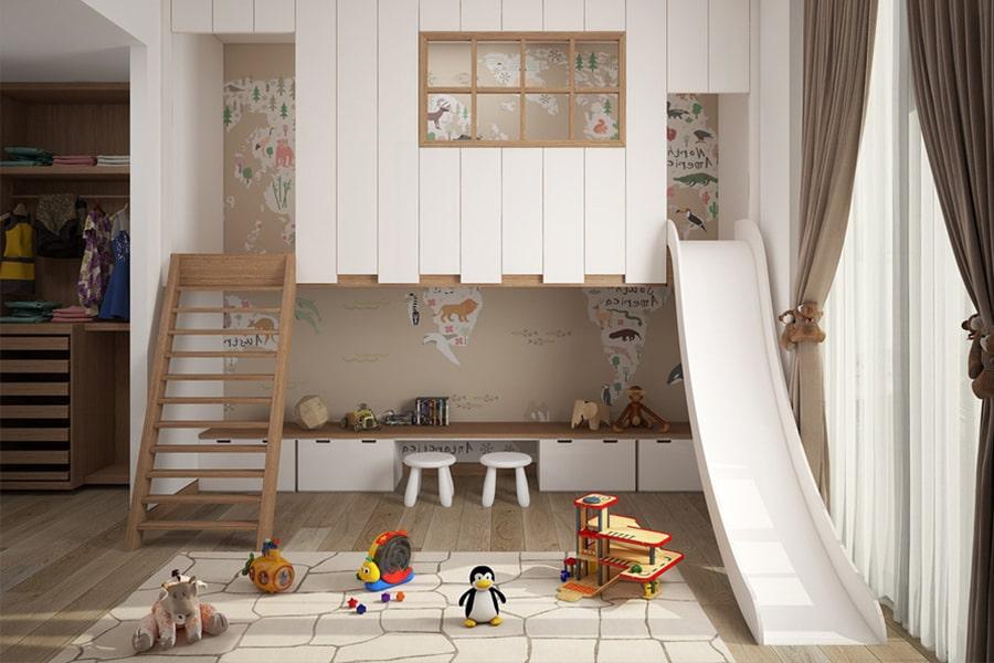 phòng ngủ dành cho bé gái 35 nagopa design