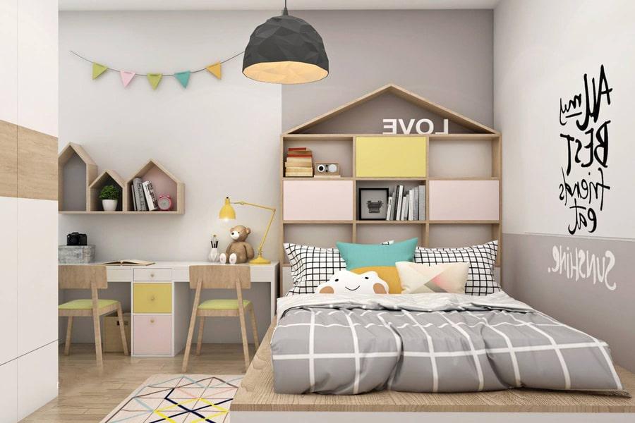 phòng ngủ dành cho bé gái 37 nagopa design