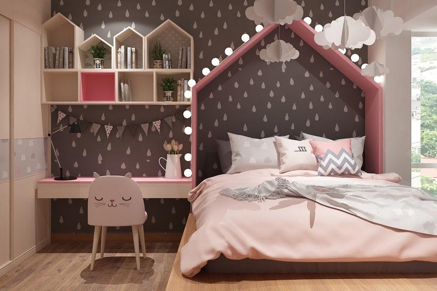 phòng ngủ dành cho bé gái 38 nagopa design