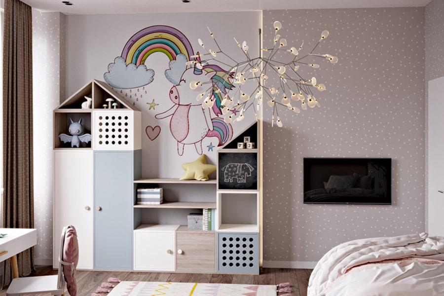 phòng ngủ dành cho bé gái 40 nagopa design