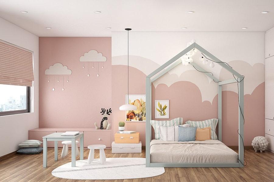 phòng ngủ dành cho bé gái 9 nagopa design