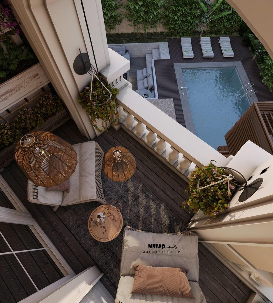 balcony villa kiểu pháp