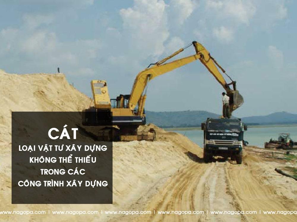 cát vật tư xây dựng dùng để xây nhà