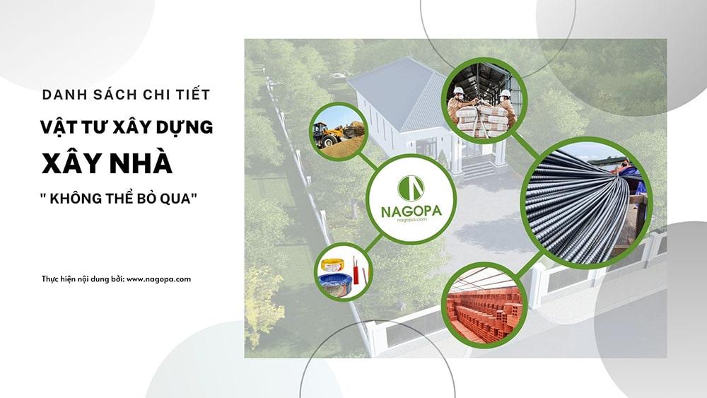 danh sách chi tiết vật tư xây dựng xây nhà